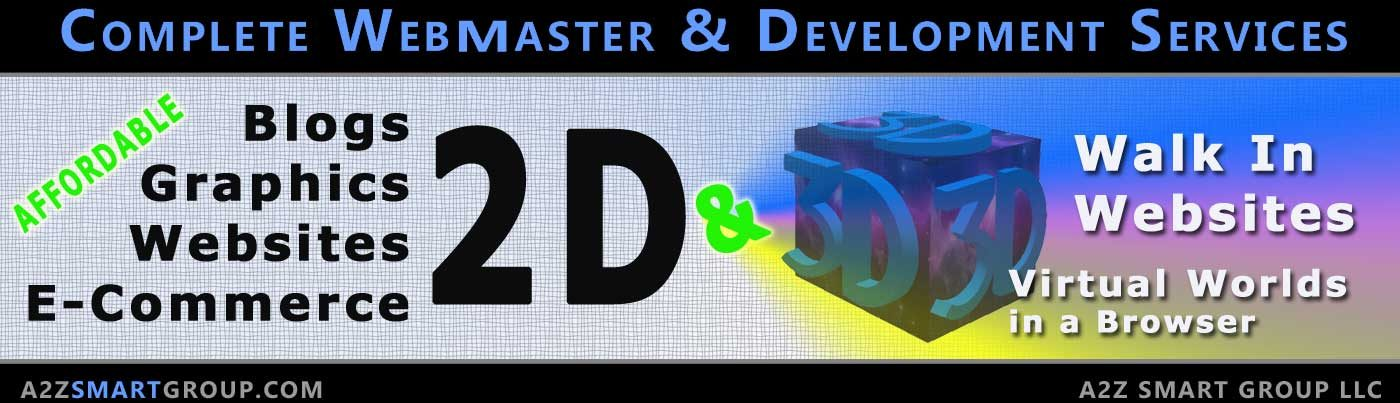 2D and 3D Website Design